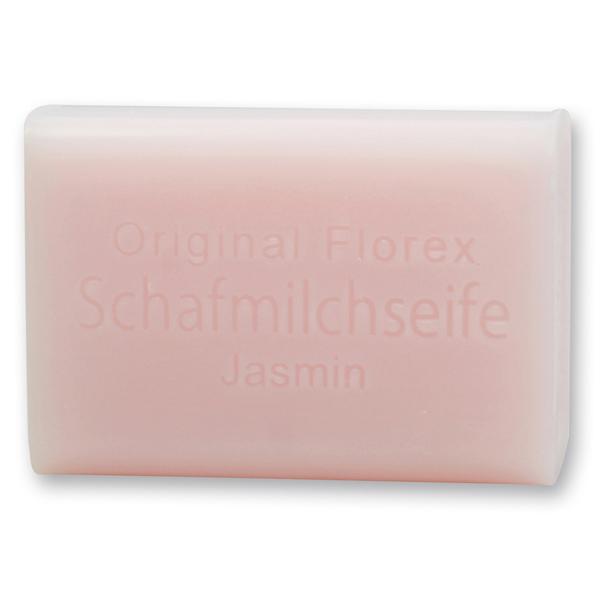 Florex Schafmilchseife - Jasmin - sinnlicher wohltuender Duft des Jasmins hebt die Stimmung 100 g