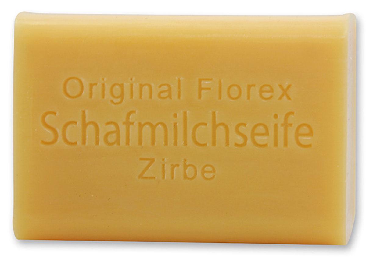 Schafmilchseife eckig 100g, Zirbe Der angenehme Duft der Zirbe entspannt und wirkt wohltuend. Original Florex Schafmilchseife ist durch ihre hochwertigen Inhaltsstoffe besonders hautverträglich und eignet sich daher auch hervorragend für empfindliche Haut. Mit biologischer Schafmilch - Hergestellt in Österreich Frei vonFüllstoffen, Silikonen und Erdöl